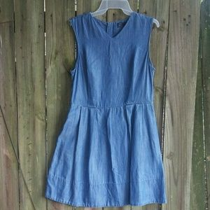 Gap denim pleated dress size 10